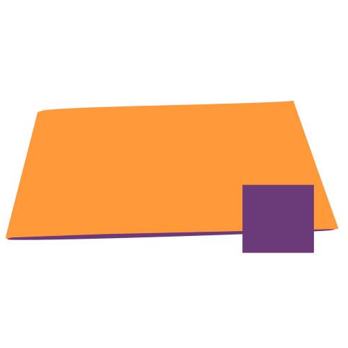 Reversible Color Mat - Orange/Purple