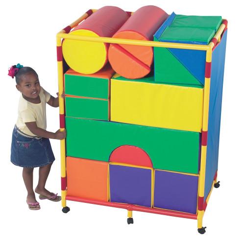 Soft Big Block Trolley - Set A