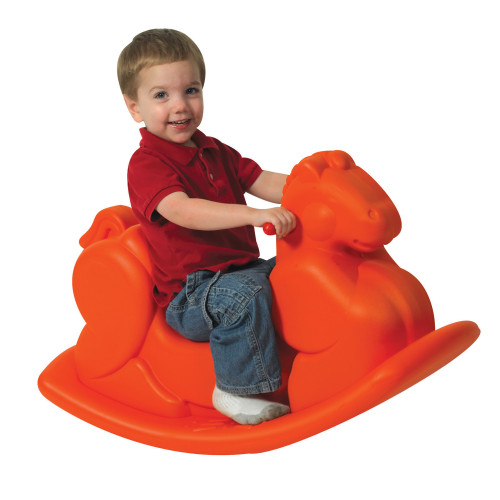 Orange Molded Rocking Horse