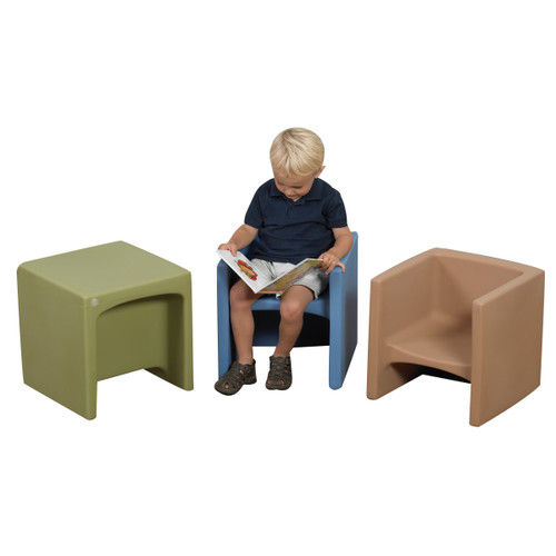 Woodland Cube Chairs - Set of 3