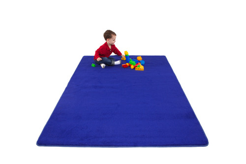 Blue Solid - Rectangular Large