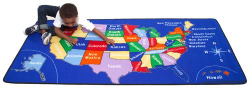US Map - Rectangular Large
