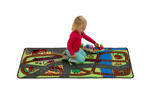 Let's Hop on the Train Rug