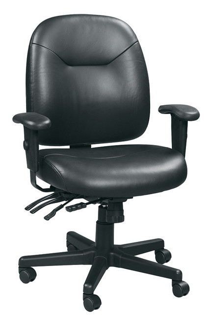 Eurotech 4x4LE LM59802A Slider Swivel Leather Black Chair