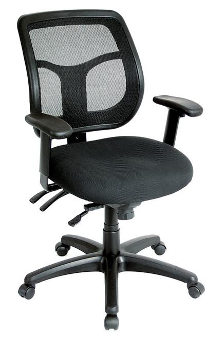 Eurotech Apollo MFT9450 Multi-function Swivel Mesh Back and Fabric Seat Black Chair
