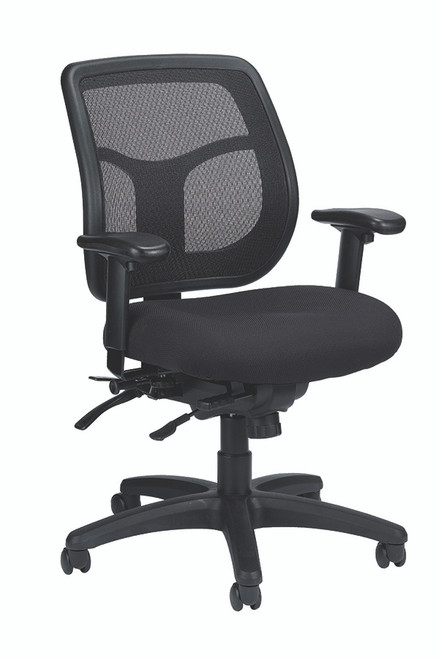 Eurotech Apollo MFT945SL Multi-function Swivel with Seat Slider Mesh Back and Fabric Seat Black Chair