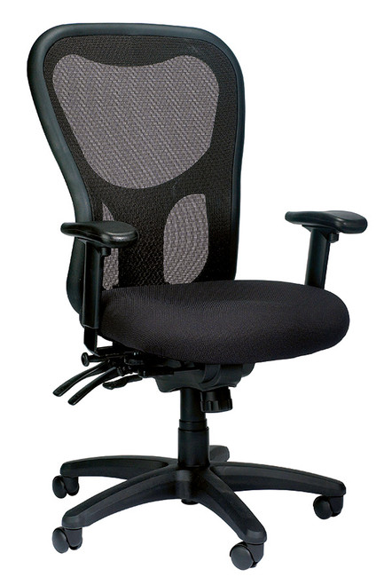 Eurotech Apollo MM95SL High Mesh Back and Fabric Seat Black Chair