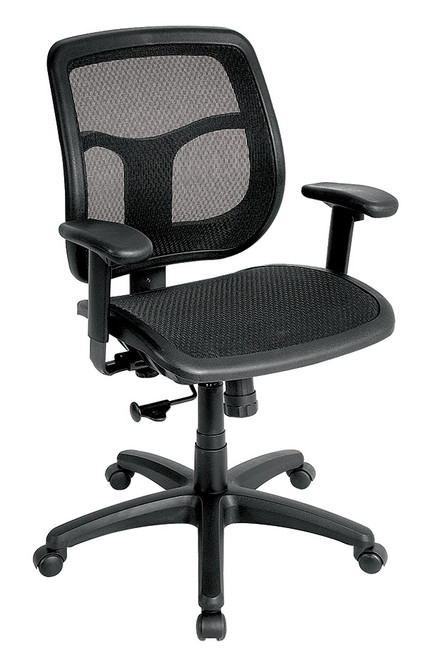 Eurotech Apollo MMT9300 with Synchro Mesh Seat and Back Black Chair