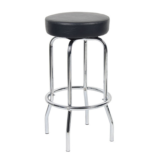 "29"" Chrome/Black Stool"