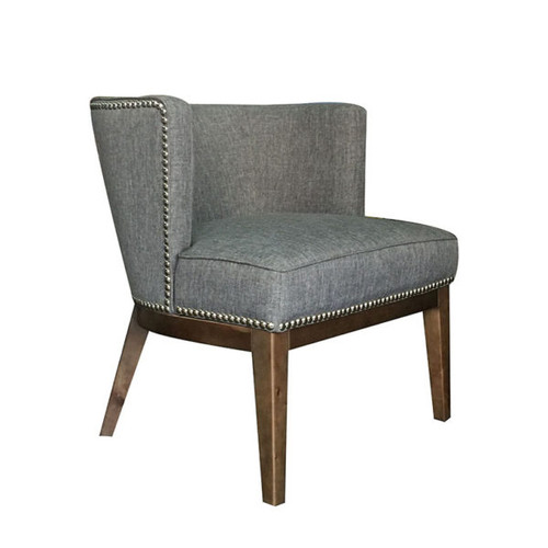 Boss Ava guest, accent or dining chair - Medium Grey