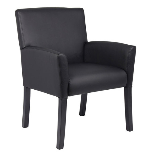 Boss Box Arm guest, accent or dining chair Black W/Black Base