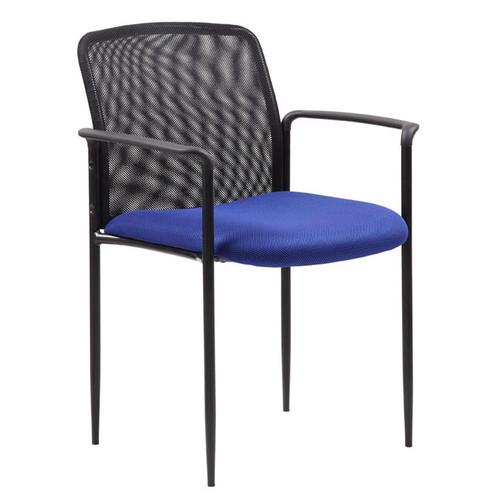 Boss Stackable Mesh Guest Chair - Blue