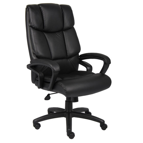 "Boss ""Ntr"" Executive Top Grain Leather Chair W/ Knee Tilt"