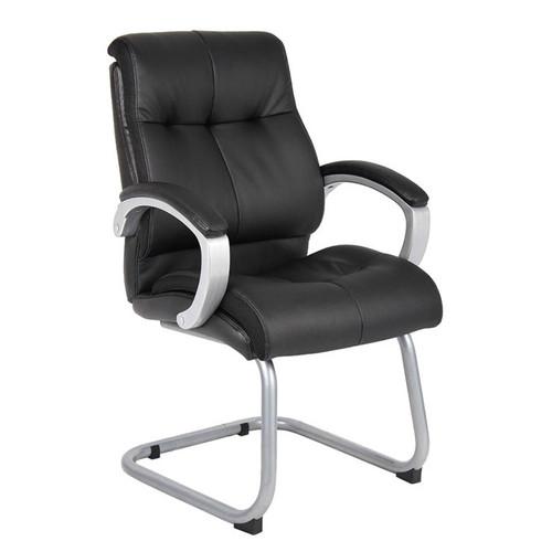Boss Double Plush Executive Guest Chair - Black
