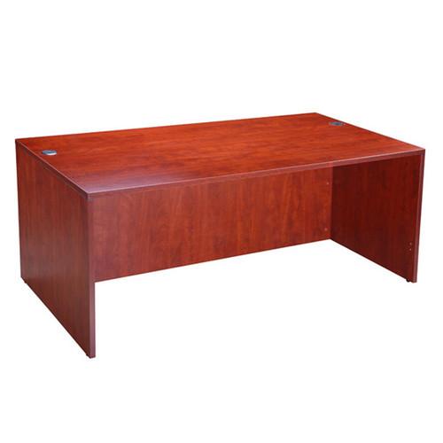 """Boss Desk Shell, 71""""W X 36""""D, Cherry"""