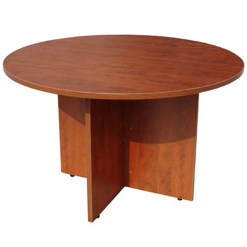 "Boss 47"" Round Table, Cherry"