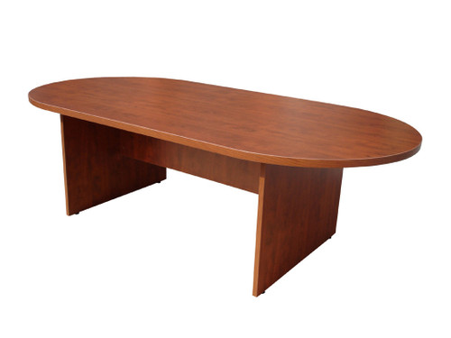 Boss 95W X 43D Race Track Conference Table, Cherry