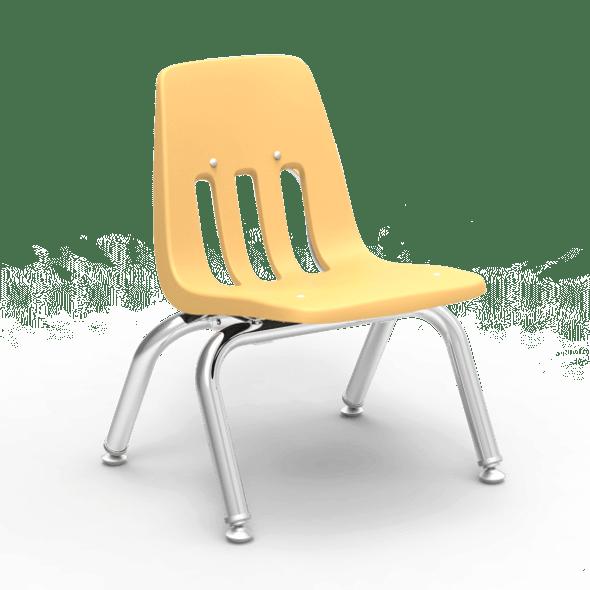 "9000 Series 10"" Classroom Chair, Squash Bucket, Chrome Frame, Preschool - Set of 4 Chairs"