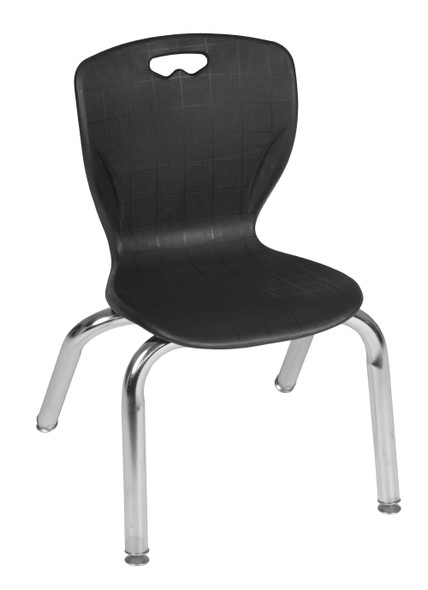 """Andy 12"""" Stack Chair (4 pack)- Black"""