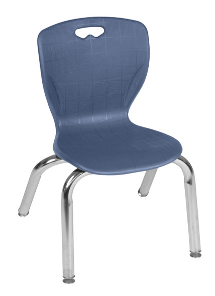 """Andy 12"""" Stack Chair (4 pack)- Navy Blue"""