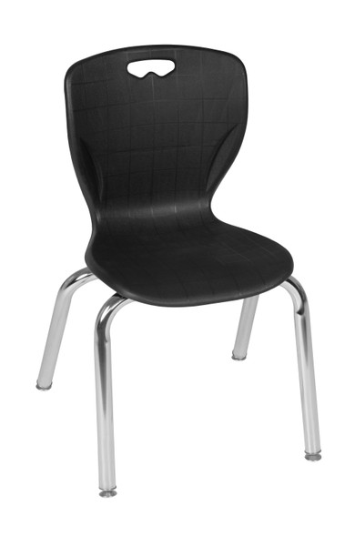"""Andy 15"""" Stack Chair (4 pack)- Black"""