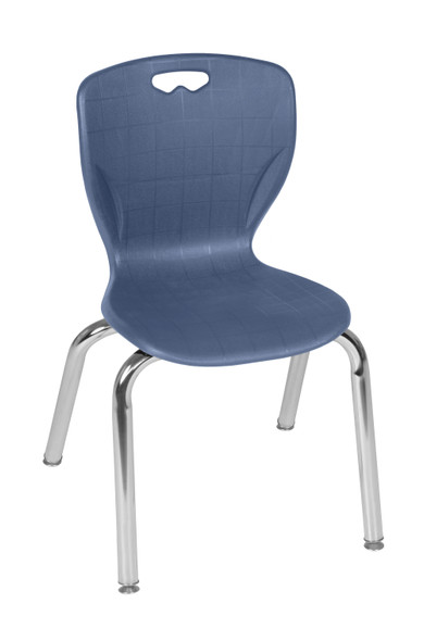 """Andy 15"""" Stack Chair (4 pack)- Navy Blue"""