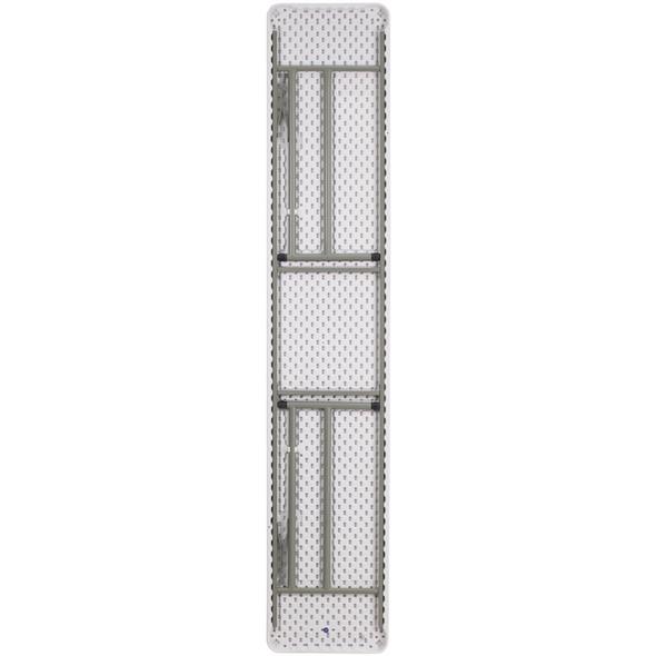 18''W x 96''L Granite White Plastic Folding Training Table
