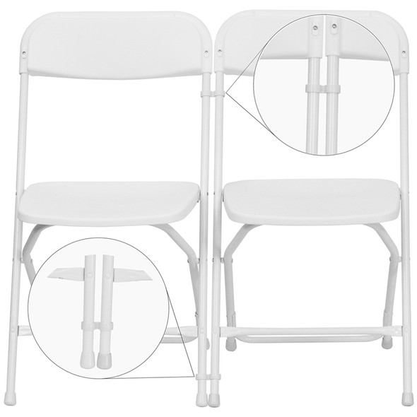 White Plastic Ganging Clips - Set of 2