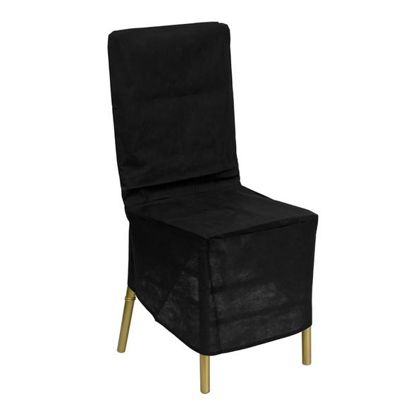 Black Fabric Chiavari Chair Storage Cover