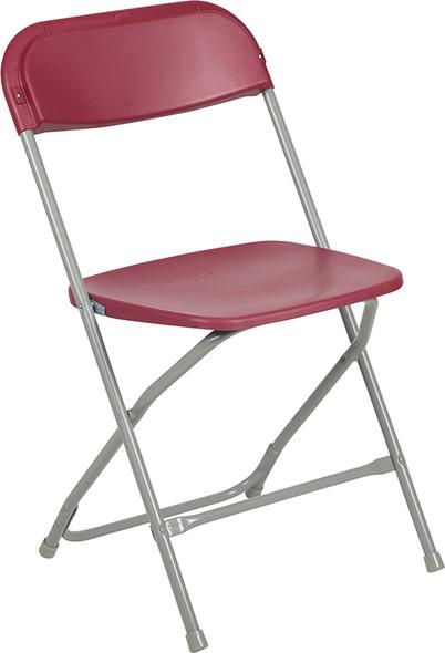 TYCOON Series 650 lb. Capacity Premium Red Plastic Folding Chair
