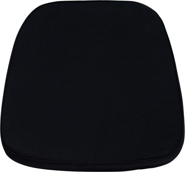 Soft Black Fabric Chiavari Chair Cushion
