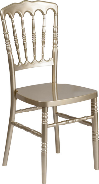 TYCOON Series Gold Resin Stacking Napoleon Chair
