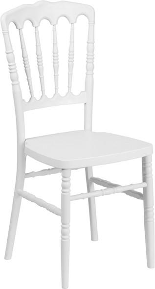 TYCOON Series White Resin Stacking Napoleon Chair