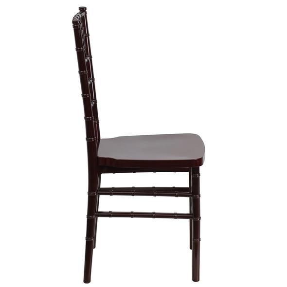 TYCOON PREMIUM Series Mahogany Resin Stacking Chiavari Chair