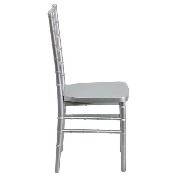 TYCOON PREMIUM Series Silver Resin Stacking Chiavari Chair