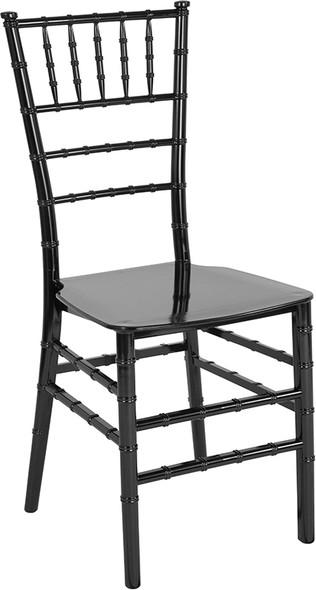 TYCOON Series Black Resin Stacking Chiavari Chair