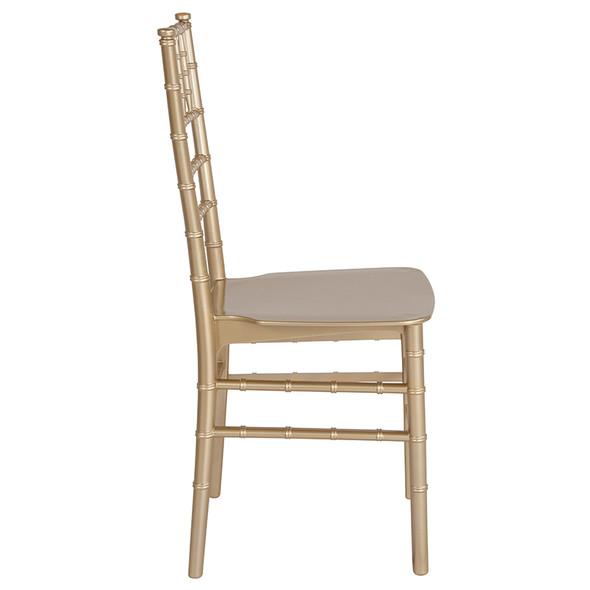 TYCOON Series Gold Resin Stacking Chiavari Chair