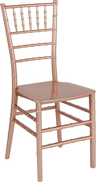 TYCOON Series Rose Gold Resin Stacking Chiavari Chair
