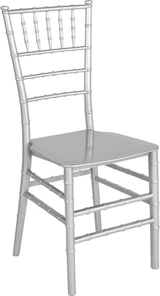 TYCOON Series Silver Resin Stacking Chiavari Chair
