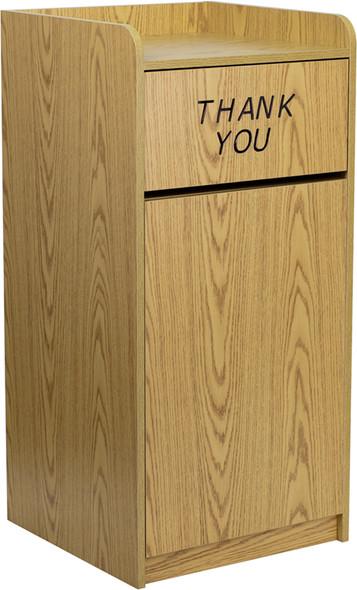 Wood Tray Top Receptacle in Oak
