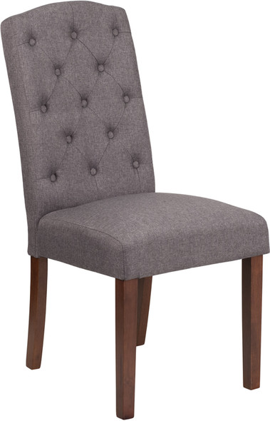 TYCOON Grove Park Series Gray Fabric Tufted Parsons Chair