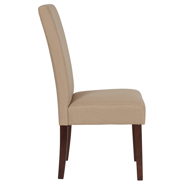 Greenwich Series Beige Fabric Parsons Chair