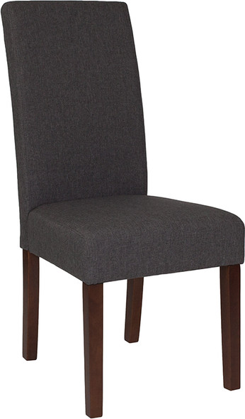 Greenwich Series Gray Fabric Parsons Chair