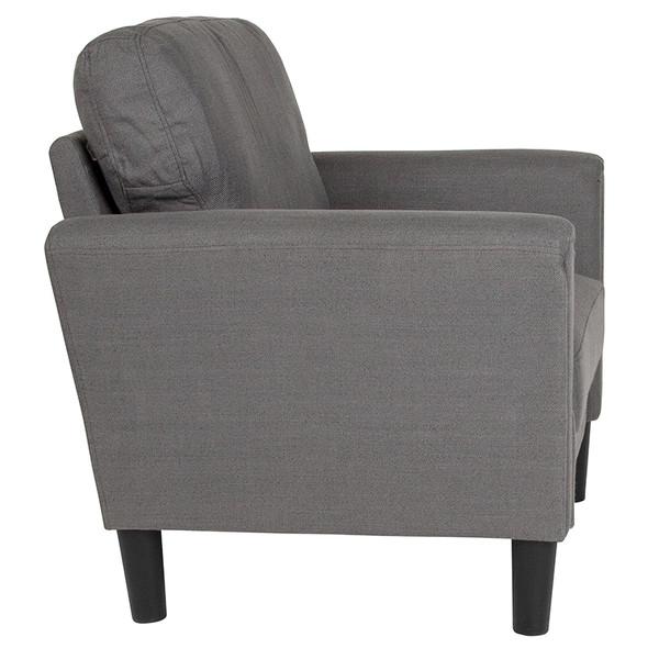 Bari Upholstered Chair in Dark Gray Fabric