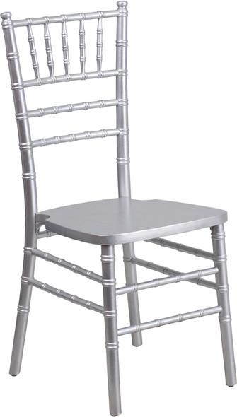 TYCOON Series Silver Wood Chiavari Chair