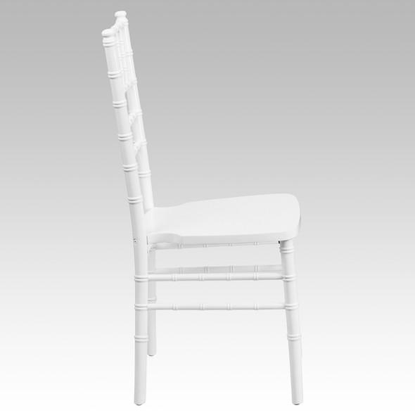 TYCOON Series White Wood Chiavari Chair