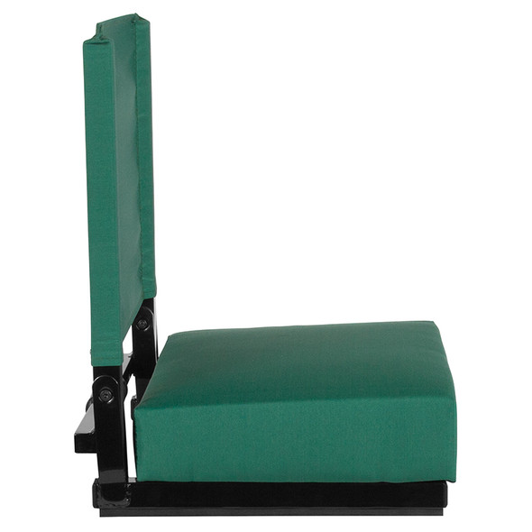 Grandstand Comfort Seats by Flash with Ultra-Padded Seat in Hunter Green