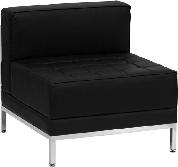 TYCOON Imagination Series Contemporary Black Leather Middle Chair
