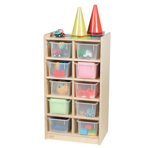 10-Tray Storage with Opaque Trays