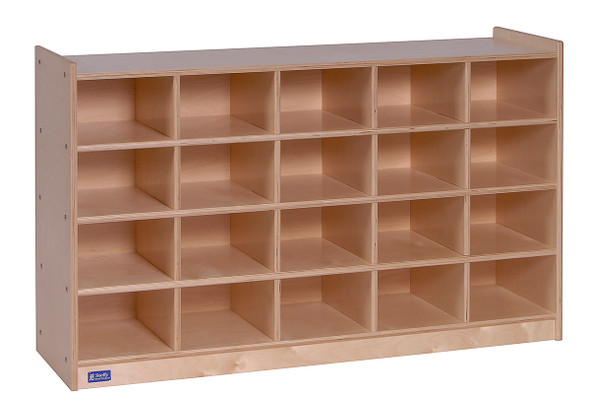 Value Line® Birch 20-Tray Cubby Storage - Unit Only